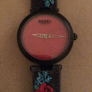 🆕 AUTHENTIC REBEL BROOKLYN 40mm LEATHER WATCH